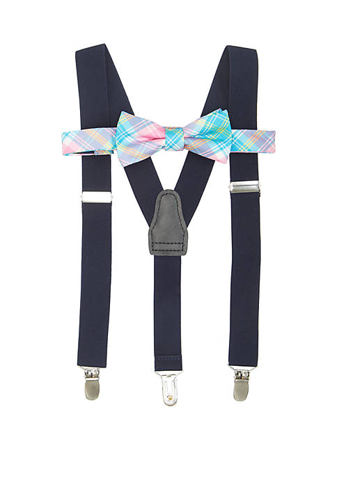 Crown & Ivy™ Boys 8-20 Pink Turquoise Plaid