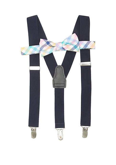 Crown & Ivy™ Boys 8-20 Multi Gingham Suspender
