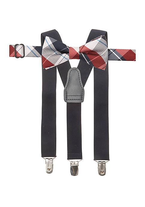 Crown & Ivy™ Boys 4-20 Plaid Bow Tie