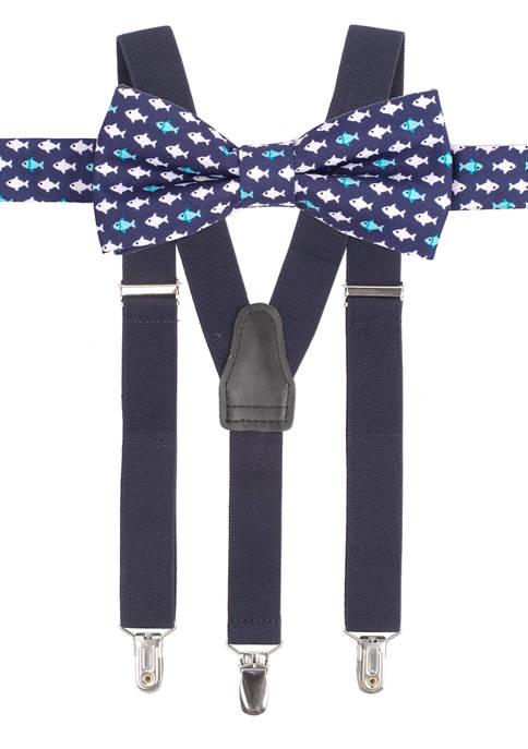 Crown & Ivy™ Boys 8-20 Monty Fish Suspender