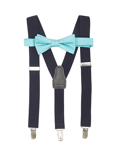 Crown & Ivy™ Solid Chambray BT Suspender Set