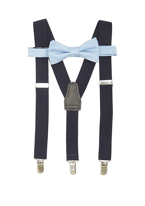 Crown & Ivy™ Solid Chambray BT Suspender Set