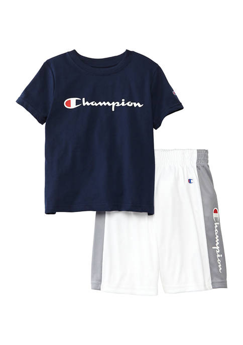 Champion® Boys 4-7 2 Piece Classic Script T-Shirt