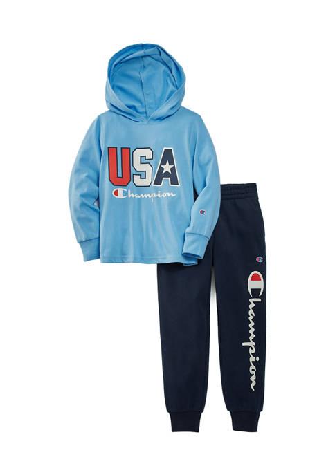 Boys 4-7 USA Jersey Hoodie Set