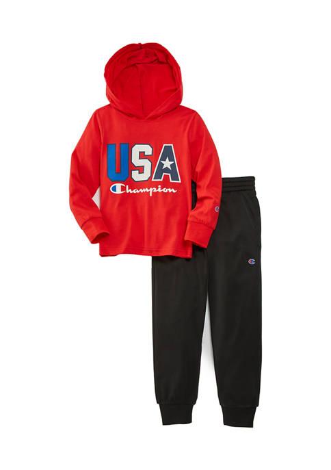 Champion® Boys 4-7 USA Jersey Hoodie Set