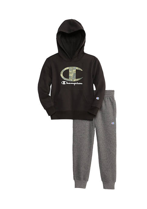 Champion® Boys 4-7 2-Piece Camo Filled Script Hoodie