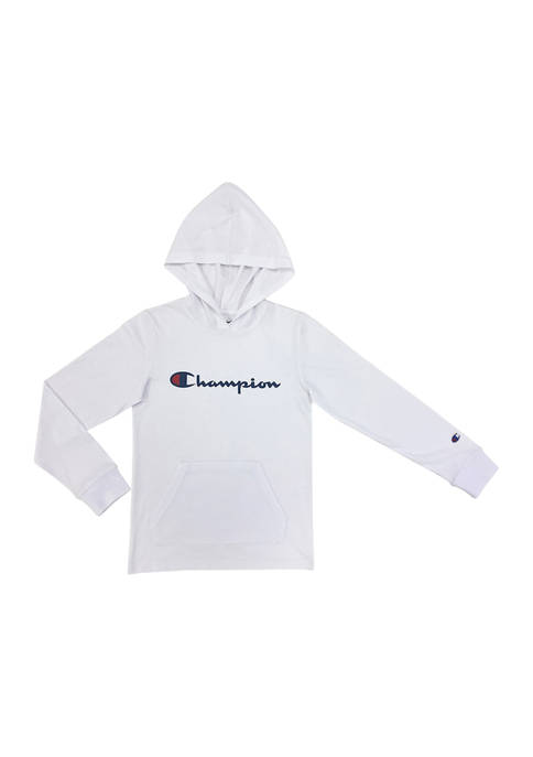 Boys 4-7 Long Sleeve Signature Graphic Hooded Pullover