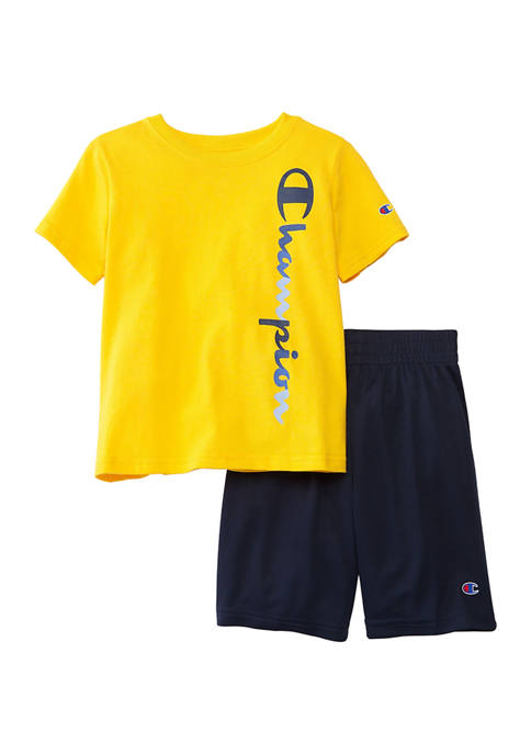 Champion® Boys 4-7 2 Piece T-Shirt and Shorts