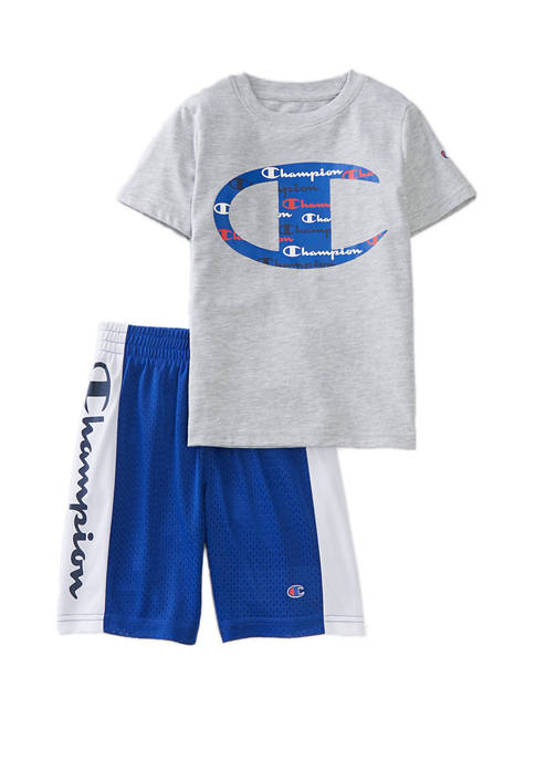 Champion® Boys 4-7 Big C Shorts and T-Shirt