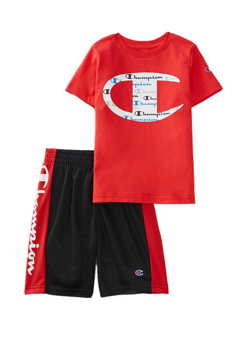 Boys 4-7 Big C Shorts and T-Shirt Set