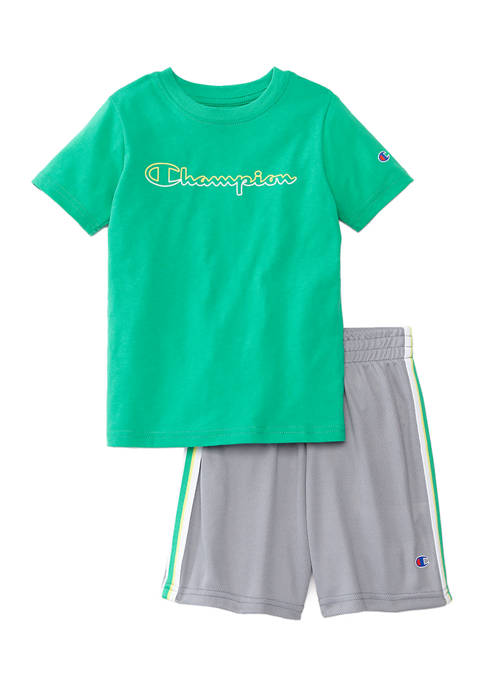Champion® Boys 4-7 Script Color Block Set