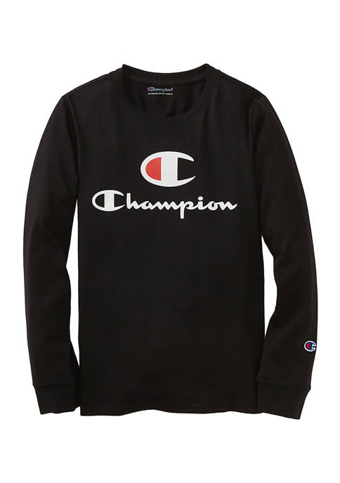 Champion® Boys 8-20 Script Long Sleeve T-Shirt