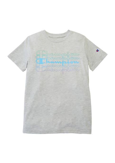 Champion® Boys 8-20 Multi Script Short Sleeve T-Shirt