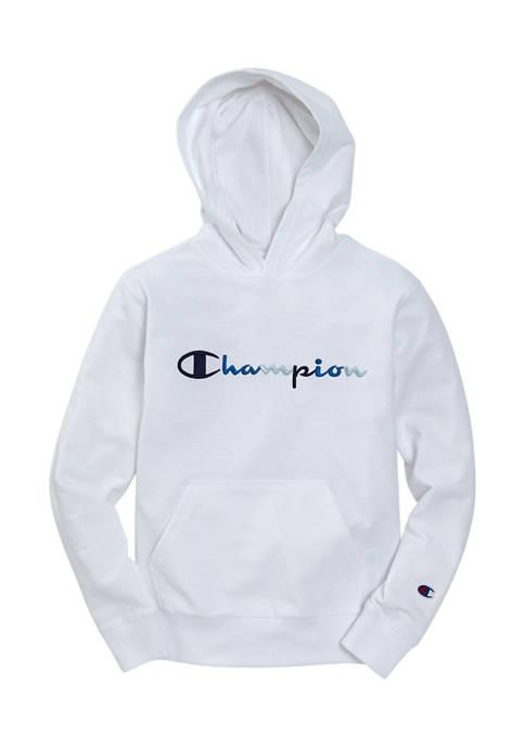 Champion® Boys 8-20 Multicolor Script Logo Graphic Hoodie