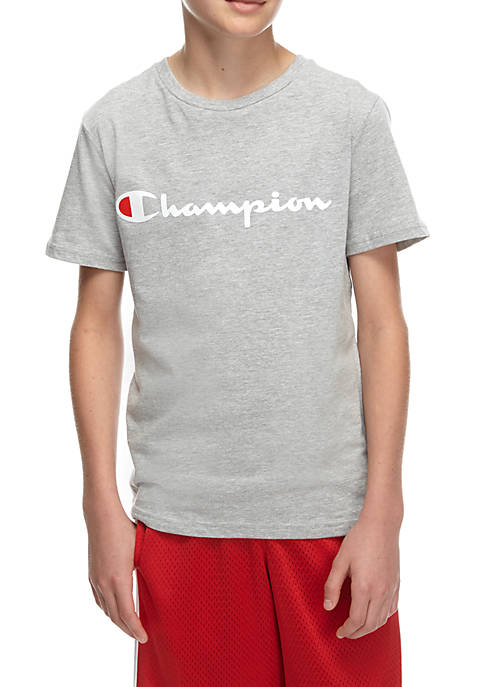 Champion® Boys 8-20 Horizontal Logo Tee