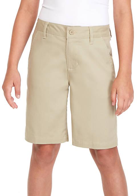 J. Khaki® Uniforms Boys 8-20 Flat Front Shorts
