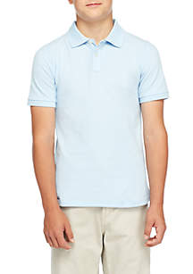 J. Khaki® Uniforms Boys 8-20 Short Sleeve Pique Polo