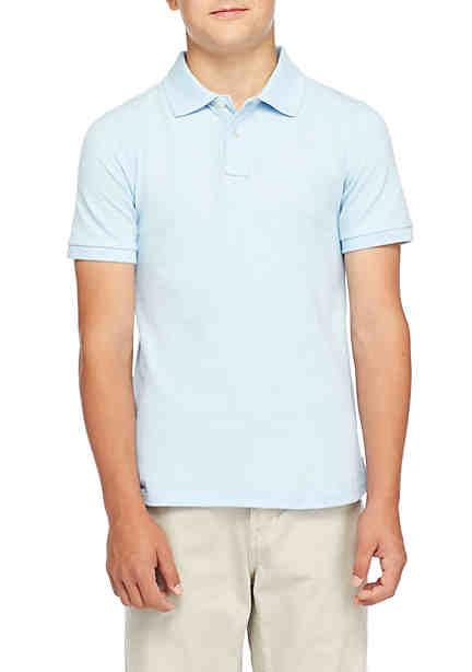 e9d07f4e4 J. Khaki® Uniforms Boys 8-20 Short Sleeve Pique Polo ...