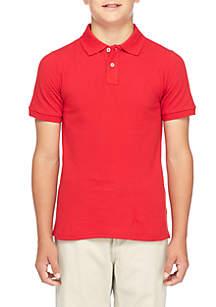 Boys 8-20 Short Sleeve Pique Polo