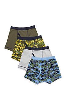Boys 4-10 4-Pack Boxer Briefs
