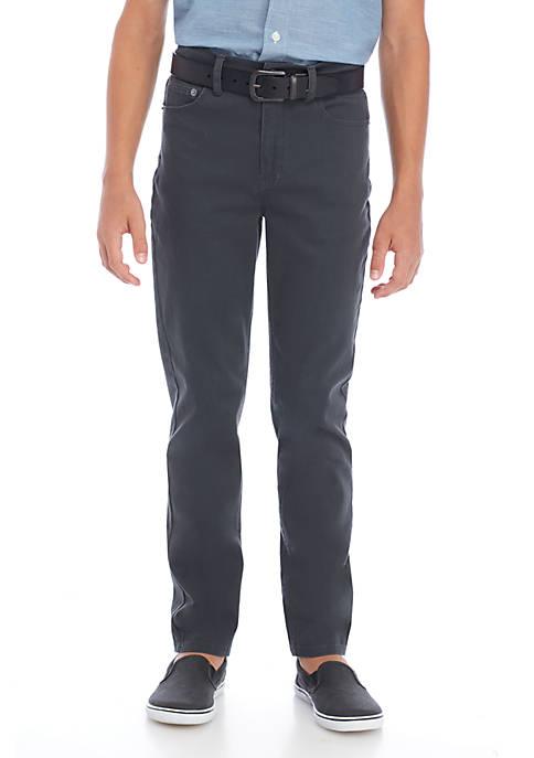 Boys 8-20 5-Pocket Stretch Twill Pants