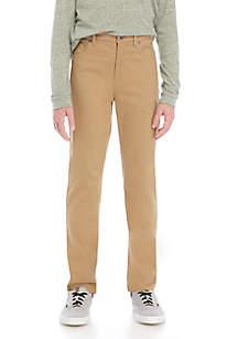 TRUE CRAFT Boys 8-20 5-Pocket Stretch Twill Pants