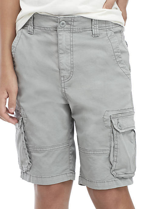 Boys 8-20 Twill Cargo Shorts