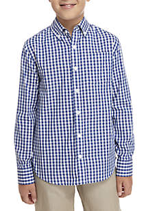 Boys 8-20 Long Sleeve Easy Care Woven Shirt