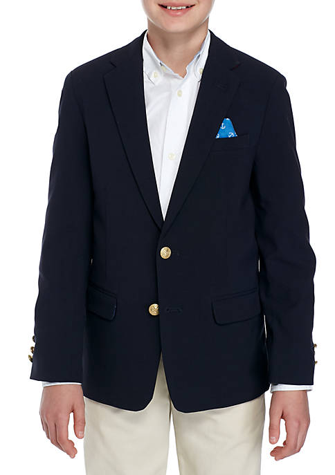 Crown & Ivy™ Blazer With Anchor Lining Boys