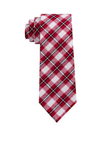 Red and White Plaid Tie