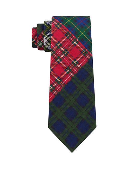 Crown & Ivy™ Boys Multi Tartan Long Tie