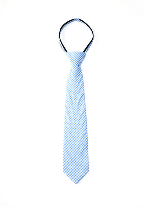 Crown & Ivy™ Boys Fashion Cotton Gingham Tie
