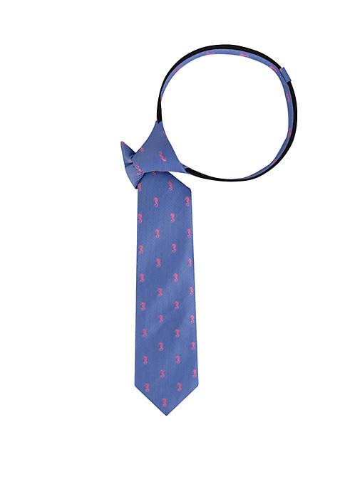 Crown & Ivy™ Boys Seahorse Zipper Tie