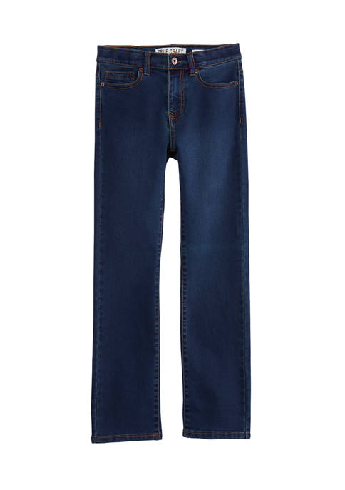 Boys 8-20 Straight Fit Knit Jeans