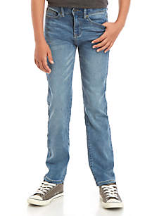 TRUE CRAFT Boys 8-20 Fashion Straight Fit Knit Denim Jeans