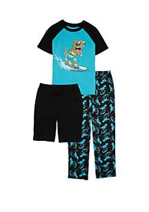 Lightning Bug Boys 4-20 3 Piece Pajama Set