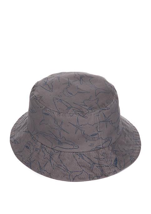 Lightning Bug Toddler Boys Shark Bucket Hat