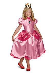Girls 7-16 Super Mario Brothers Deluxe Princess Peach Costume