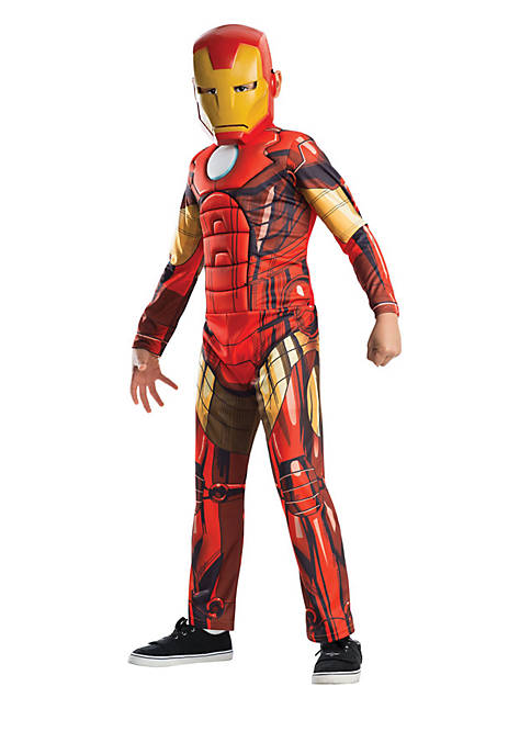 Boys 8-20 Avengers Assemble Deluxe Iron Man Child Costume