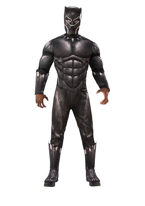 Rubie's Marvel Black Panther Movie Mens Deluxe Black