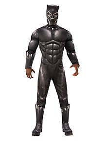 Rubie's Marvel Black Panther Movie Mens Deluxe Black Panther Muscle Chest Costume