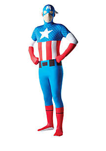 Rubie's Mens Captain America Second Skin Costume