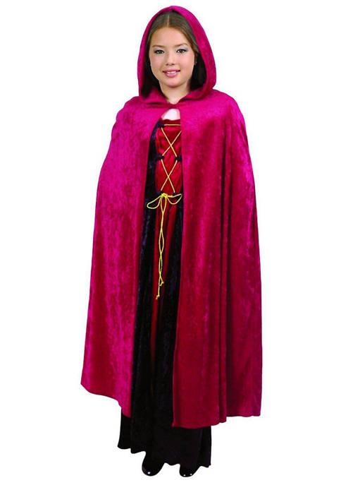 Charades Big Kids Hooded Cloak Red Costume