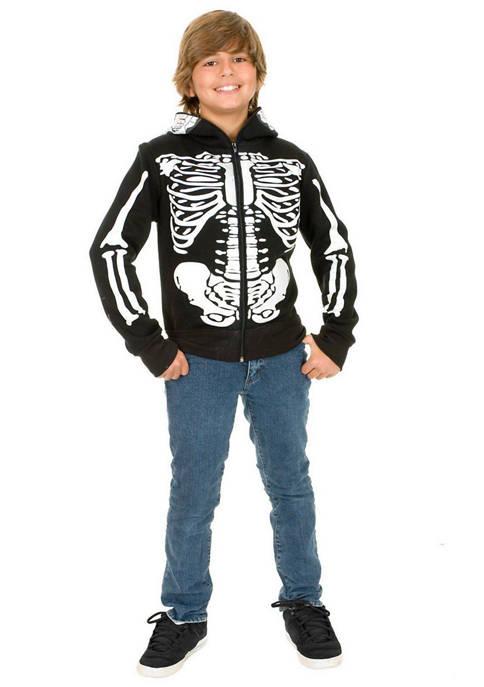 Charades Boys 8-20 Skeleton Sweatshirt Hoodie