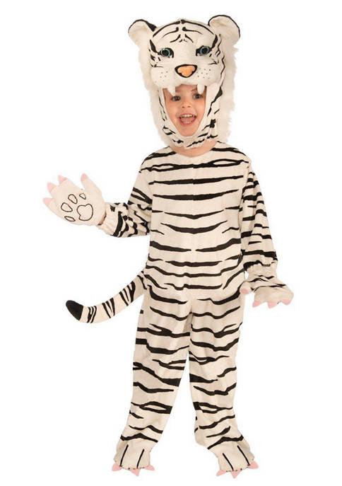 Forum Boys 4-7 Plush White Tiger Costume