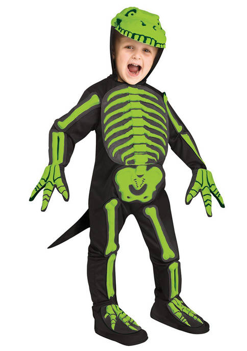 Fun World Big Kids 3D Dino Bones Costume