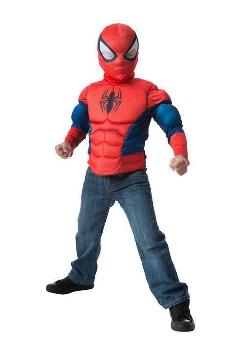 Imagine Boys 8-20 Spider-Man Muscle Chest Shirt Set