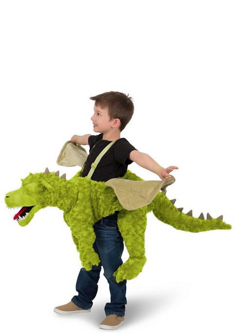Princess Paradise Big Kids Green Ride-In Dragon Costume