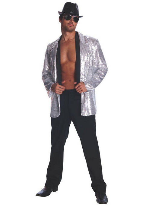 Rubie's Adult Silver Sequin Jacket