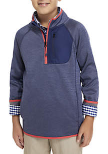 Crown & Ivy™ Boys 8-20 Space Dye Performance 1/4 Zip Jacket